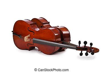 Greek musical instrument bouzouki isolated on white background