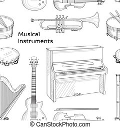 Musical instruments pattern