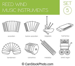 Musical instruments. Reed wind