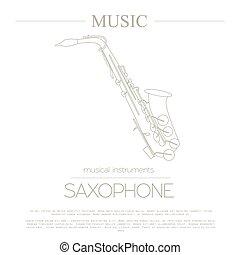 Musical instruments. Saxophone