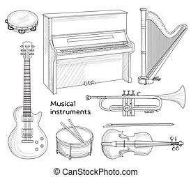 Musical instruments set