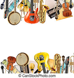 Musical instruments, orchestra or a collage of music