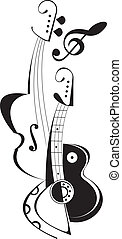 Musical instruments - String musical instruments - vector ...