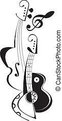 String musical instruments - vector illustration on white