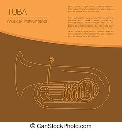 Musical instruments. Tuba - Musical instruments graphic...
