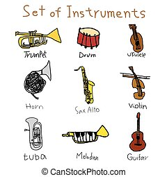 musical instruments, vector