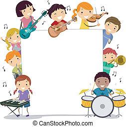 Musical Kids - Illustration of Kids Holding Musical...