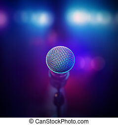 Musical Microphone on stage