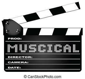 Musical Movie Clapperboard - A typical movie clapperboard...