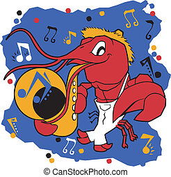 Musical Mudbug - A country crawfish dancing and playing a...