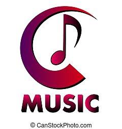 musical, musique, logo