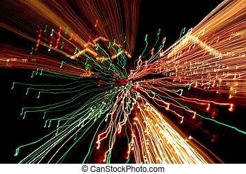 Musical Nightmare - Time exposure photo of Christmas lights...