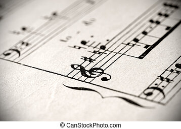 musical notation - music staff with treble and bass clefs
