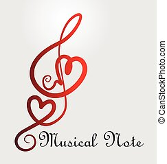 Musical note hearts - musical notes of love