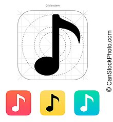 Musical note icon.