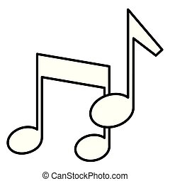 musical note on white background