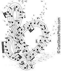 note staff - Musical note staff with lines. Vector...