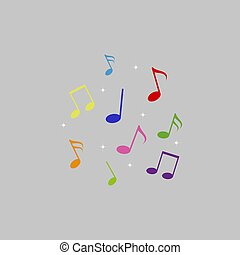Musical note symbol vector illustration