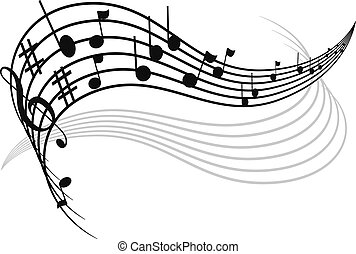 Musical notes decoration