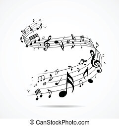 Musical notes design isolated - Musical notes design, vector...