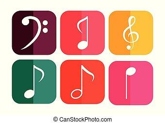 musical notes design