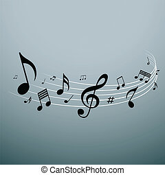 Musical notes design