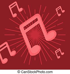 musical notes design vector ilustration