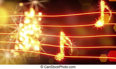 musical notes loopable background - musical notes. computer...