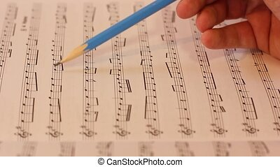 Musical notes - reading and checking musical notes