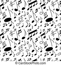 musical notes seamless texture
