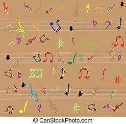 Musical notes - seamless vector