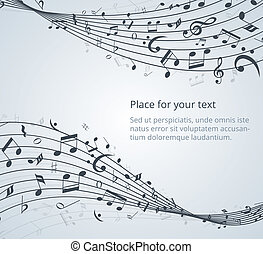 musical notes vector background with space for your text