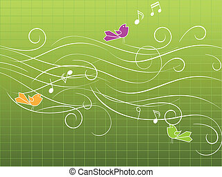 musical, pássaros