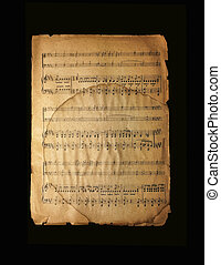 Musical page with notes