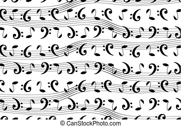 Musical pattern with notes