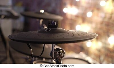 Musical percussion instrument at stage for drummer
