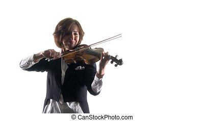 Musical plays a lyrical work. White background - Musical...
