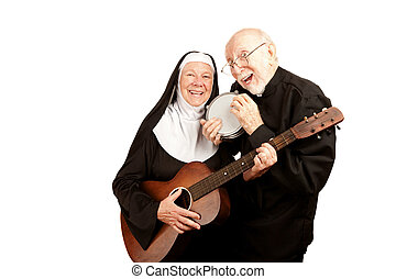 Musical priest and nun