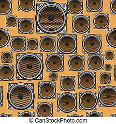 Musical Speaker Seamless Pattern