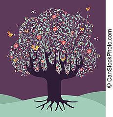 Musical spring time tree
