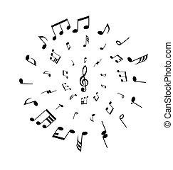 musical staff theme