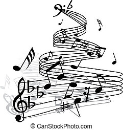 musical staff theme - Musical notes staff theme for use in ...