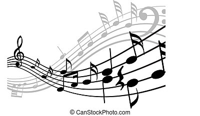 musical stuff background - Musical notes stuff vector ...