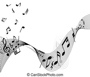 musical stuff background - Musical notes stuff vector...