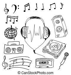 Musical stuff. Vector illustration
