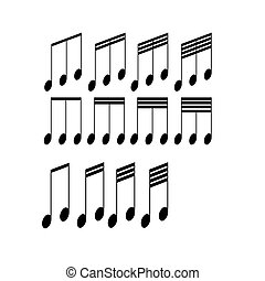 Musical symbols on a white