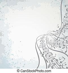 Musical Theme - Abstract musical vector theme