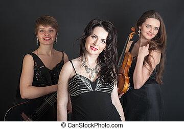 Musical trio portrait
