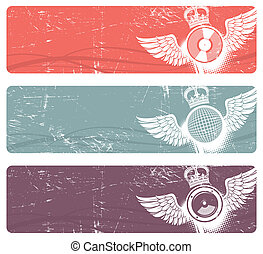 Musical vector banners
