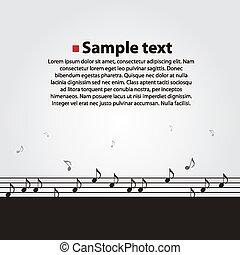 Musical vector dark background.